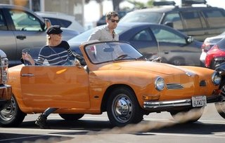 Joshua Jackson and Diane Kruger in a Convertible Pictures