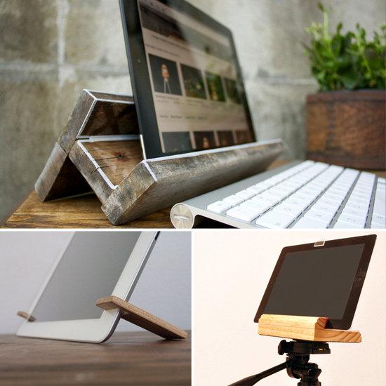 Wooden iPad Stands