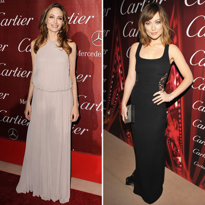 Angelina Jolie and Olivia Wilde Palm Springs Film Festival