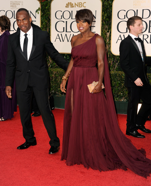 Viola Davis at the Golden Globes.