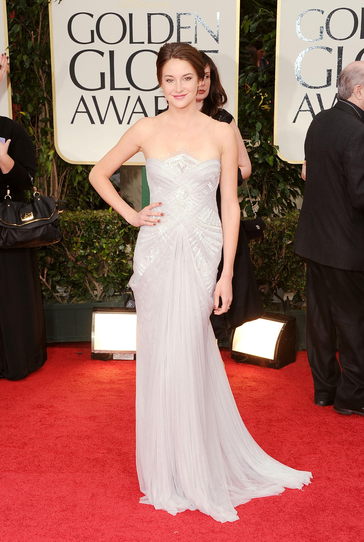 Shailene Woodley at the Golden Globes.