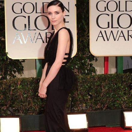 Rooney Mara Black Nina Ricci Dress Pictures at 2012 Golden Globes