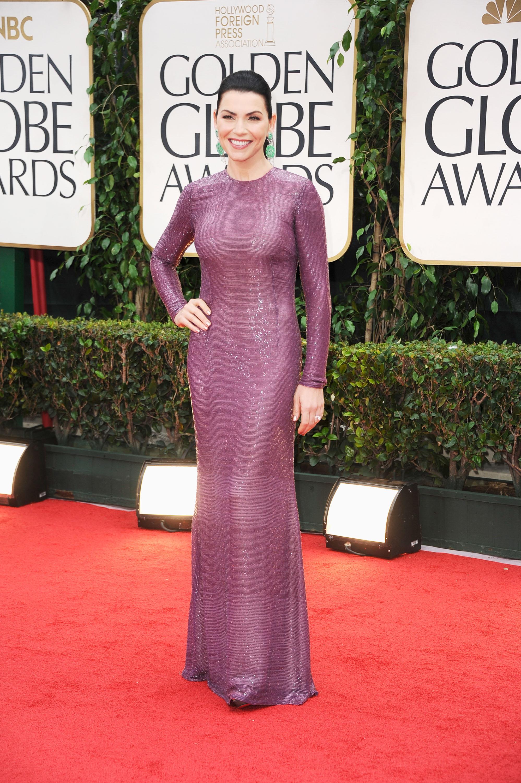 Julianna Margulies at the Golden Globes.