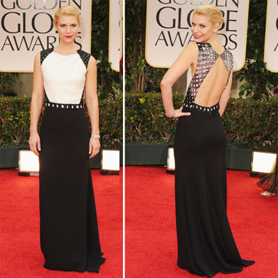 Claire Danes at Golden Globes 2012