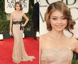 Sarah Hyland in Dolce & Gabbana at Golden Globes 2012