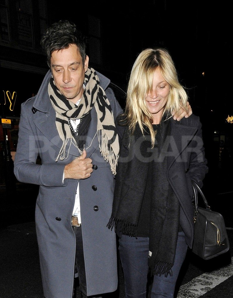 Kate Moss and Jamie Hince were happy to be together.