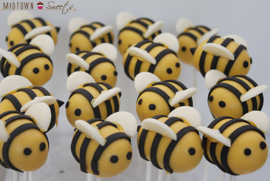 Bees Baby Shower Cake Pops