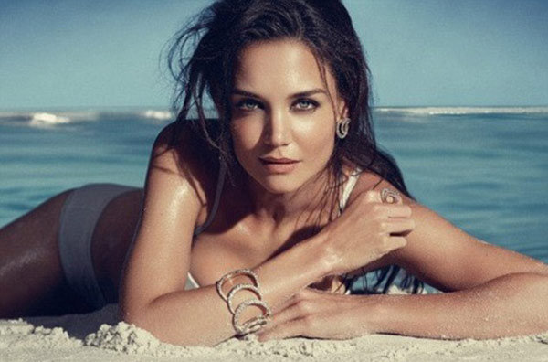 Katie Holmes Goes Almost-Topless to Model H. Stern Jewels