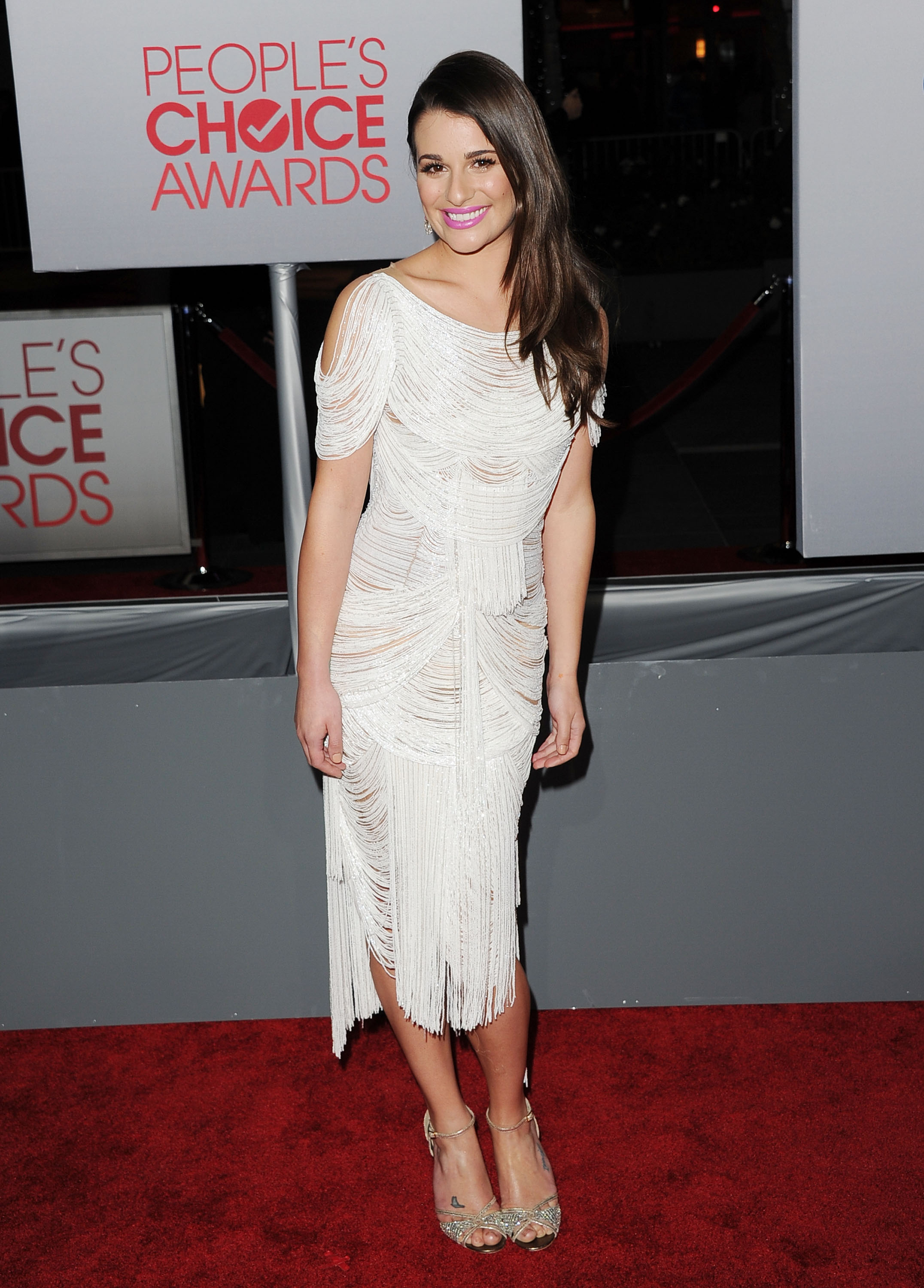 Lea Michele was gorgeous in Marchesa.
