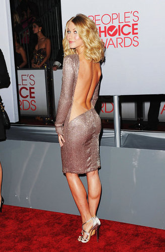 Julianne Hough flaunted her sexy back.