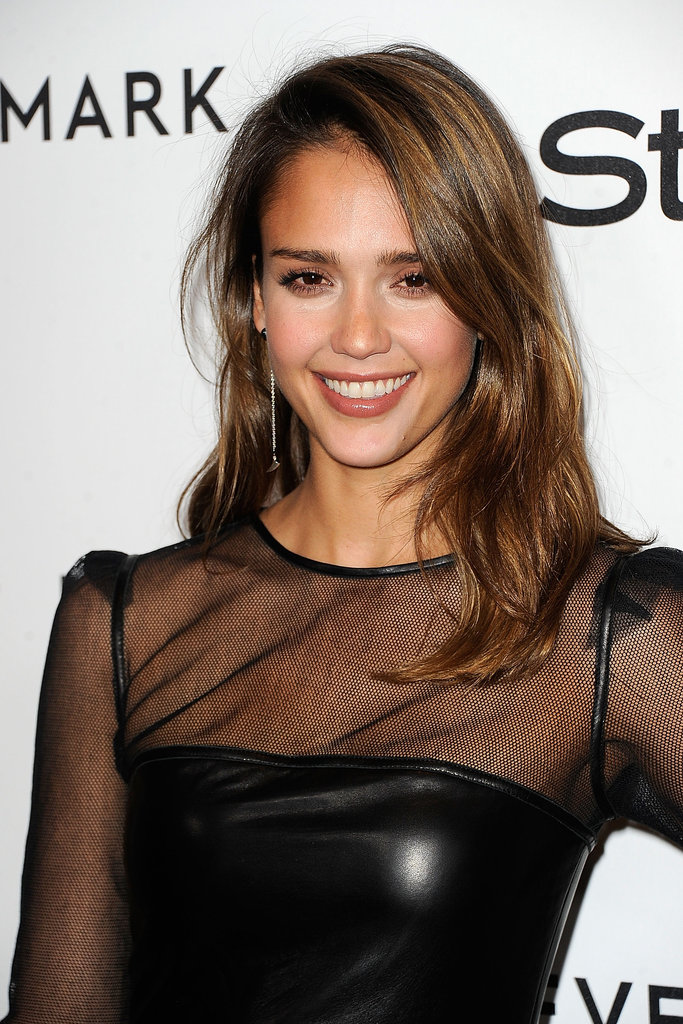 Jessica Alba had a sheer moment at Forevermark and InStyle's Golden Globe Awards event.