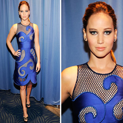 Jennifer Lawrence at 2012 People's Choice Awards