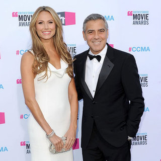 George Clooney and Stacy Keibler Pictures at 2012 Critics' Choice Awards