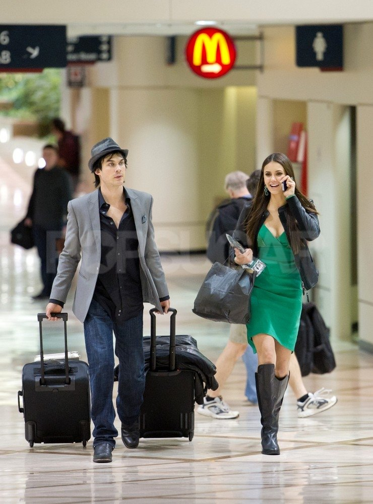 Ian Somerhalder listened as Nina Dobrev shared the news about her People's Choice Award.