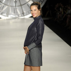Alessandra Ambrosio Pregnant Modelling Pictures For Colcci at Sao Paulo Fashion Week