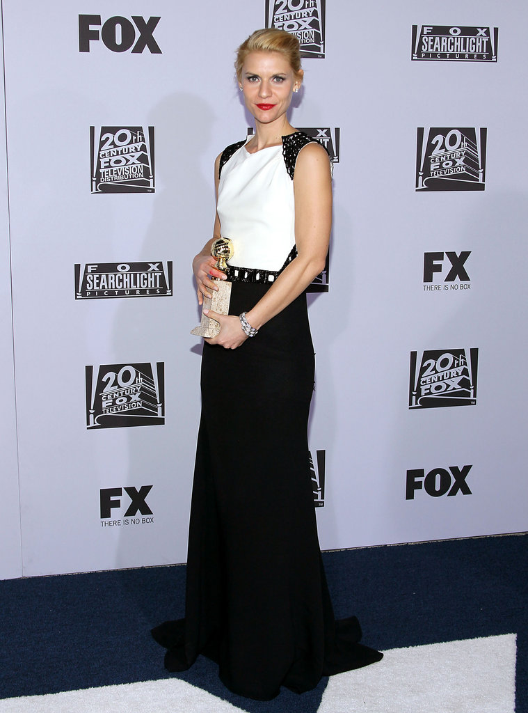 Claire Danes posed at the Fox after party.
