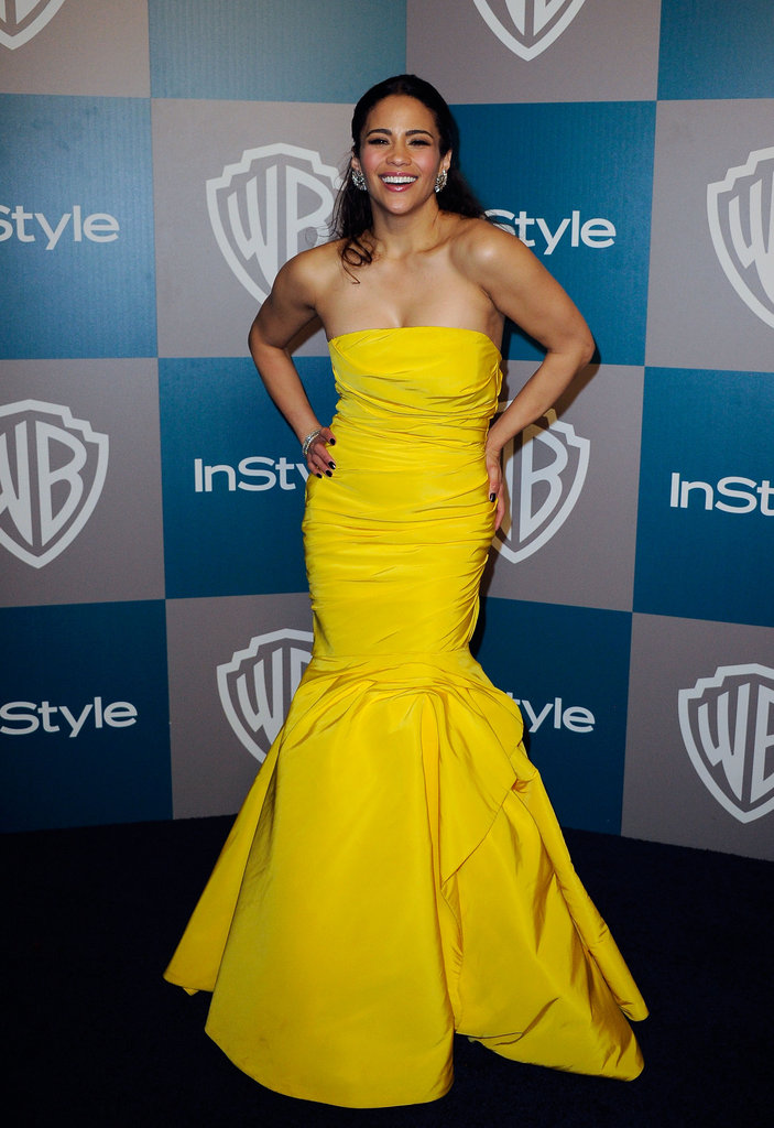 Paula Patton in Monique Lhuillier.