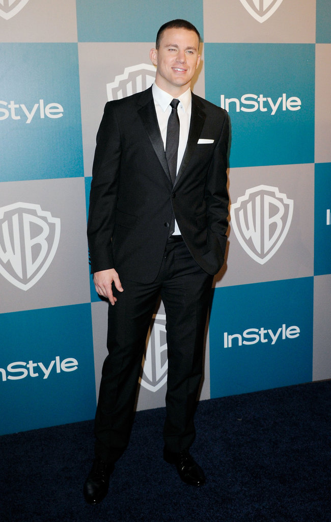 Channing Tatum hit the red carpet for InStyle's Golden Globes afterparty.