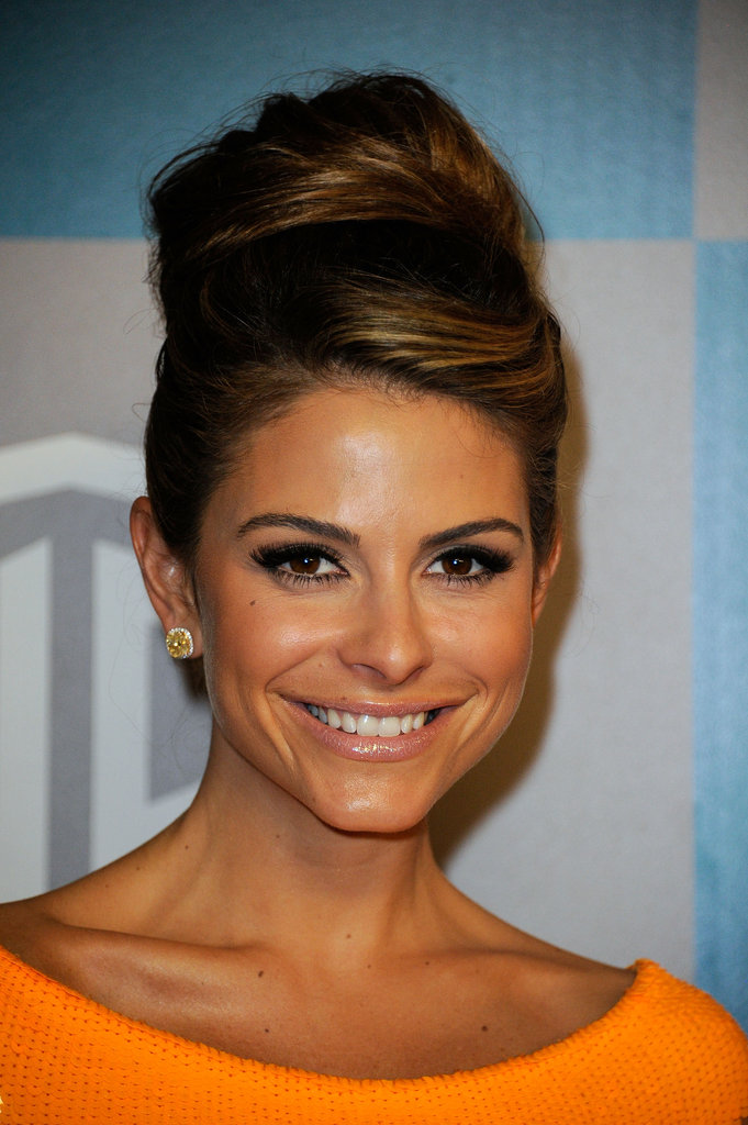 Maria Menounos in orange.