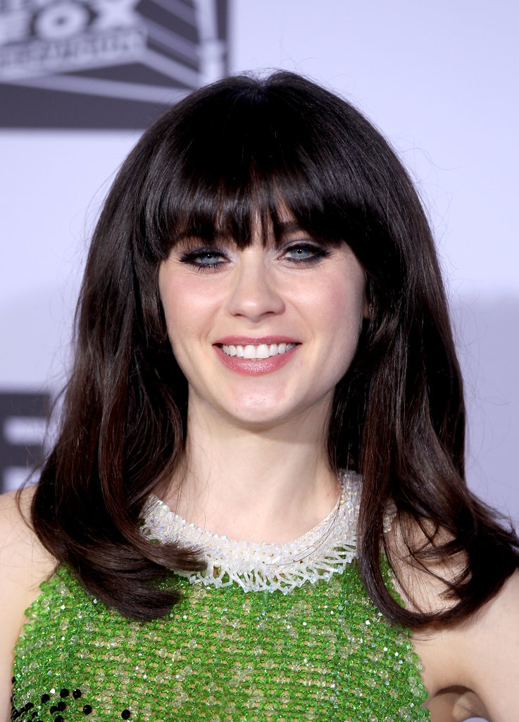 Zooey Deschanel attended the Fox party.