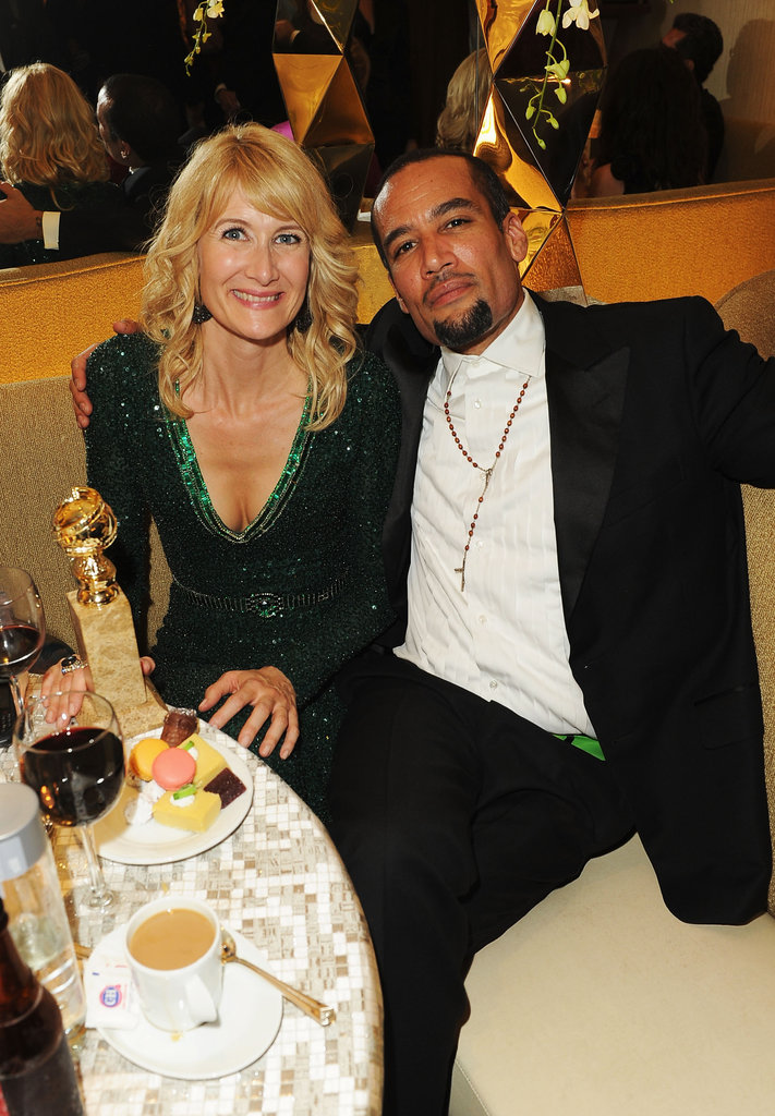 Laura Dern and Ben Harper partied at the HBO post-Globes bash.