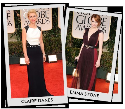 Best Dressed From the 2012 Golden Globes