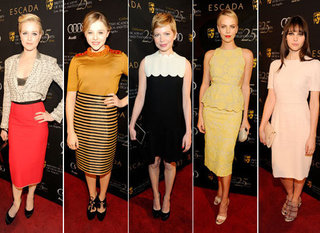 Best Dressed at the 2012 BAFTA Tea Party at the Four Seasons in LA Michelle Williams, Charlize Theron, Chloë Moretz & More!