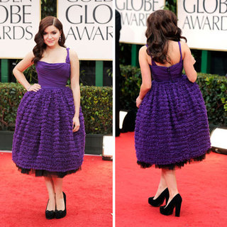 Modern Family Star Ariel Winter Wears Purple Dolce and Gabbana to the 2012 Golden Globe Awards