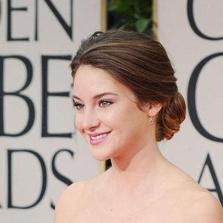 The Descendants Star Shailene Woodley Hair and Makeup 2012 Golden Globes