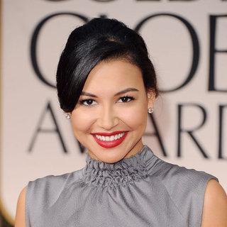 Glee Star Naya Rivera Hair and Makeup at the 2012 Golden Globes