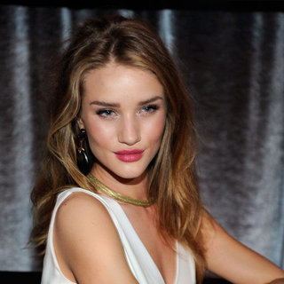 Rosie Huntington-Whiteley Hair and Makeup at the 2012 Golden Globes the Weinstein Company's After Party