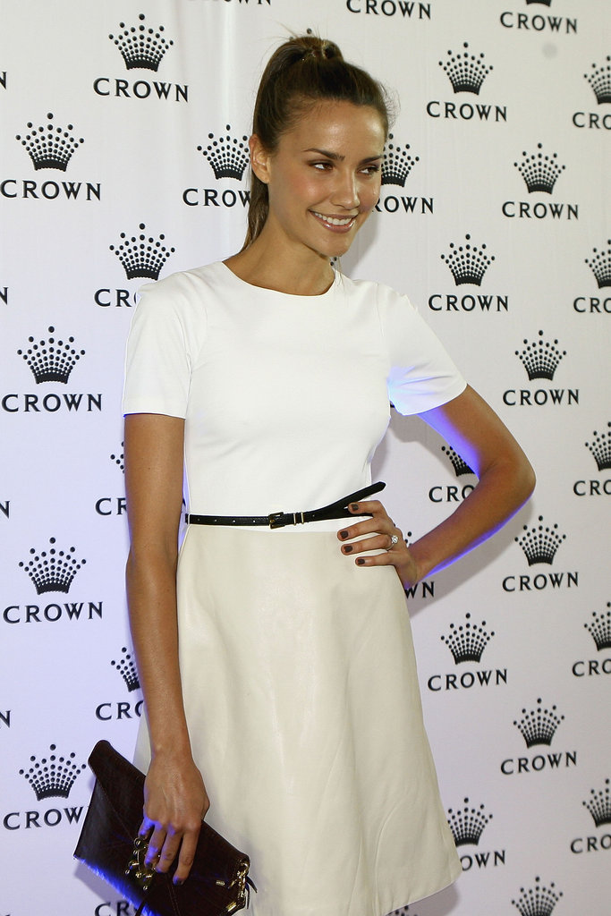 Rachael Finch wore a pale ensemble to the Australian Open Players Party at Crown Towers in Melbourne on Jan. 15.