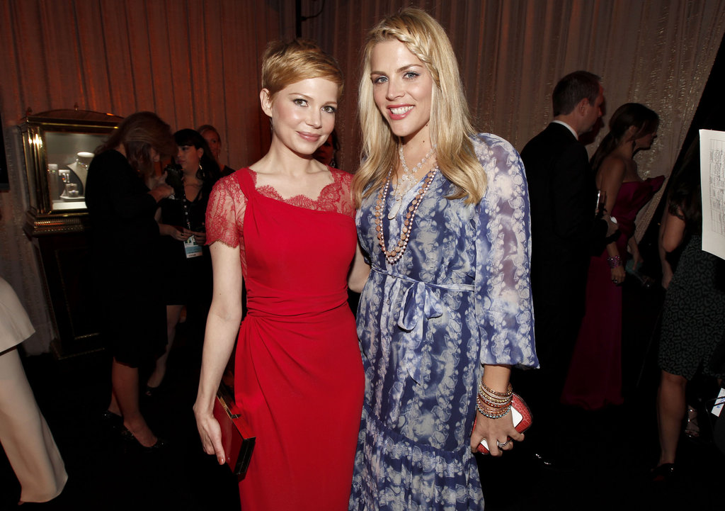 Michelle Williams posed alongside her BFF Busy Philipps.