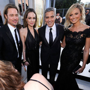 Brad Pitt, Angelina Jolie, George Clooney and Stacy Keibler Pictures at 2012 SAG Awards