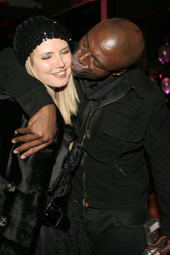 Heidi and Seal kissed during the Aspen Peak New Year's Eve 2007 party.