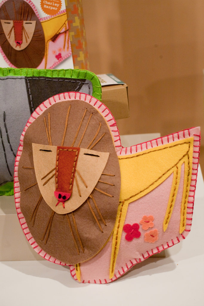 A Charley Harper-inspired learn-to-sew kit.