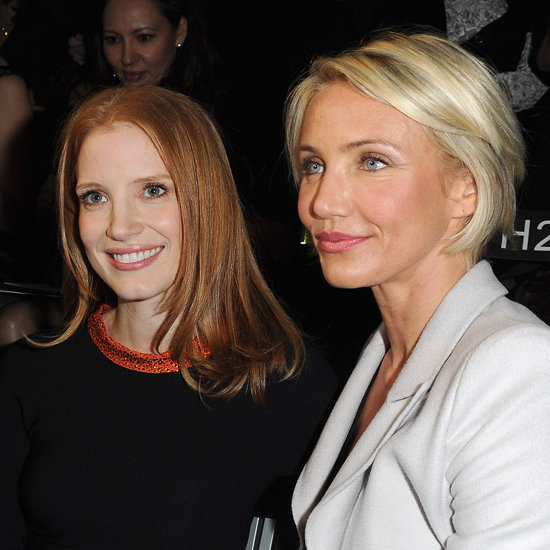 Jessica Chastain and Cameron Diaz at Armani Privé