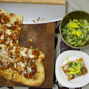 Buffalo Chicken Pizza With Shaved Celery Salad
