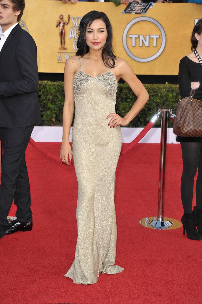 Glee actress Naya Rivera wore a slinky Aurelio Costarella number to the 2011 awards.