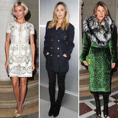 Celebrities at Paris Haute Couture Spring 2012 Shows