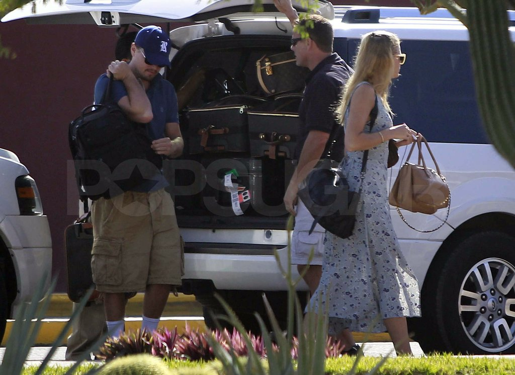 Leo hopped out of the SUV with his black backpack.