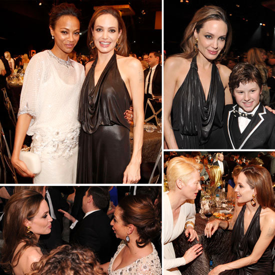 See Angelina Jolie Get Social at the SAG Awards