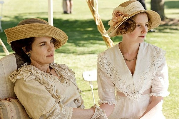 "Upper-class women like Cora and Edith typically wore hats and gloves if they went outside. That's because a pale complexion, not a tanned glow, signified wealth and status. Fair, nearly translucent skin was desirable among nobles, especially if veins could be seen. (Hence the popularity of the phrase ""blue bloods."")"