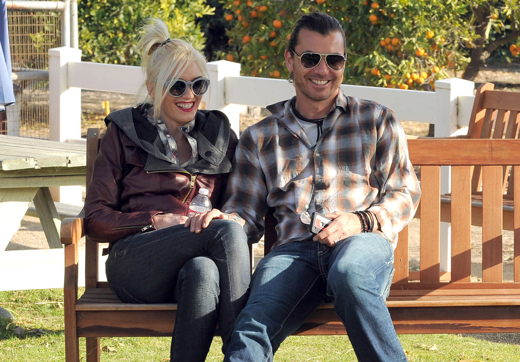 Gavin Rossdale and Gwen Stefani watched their kids play.