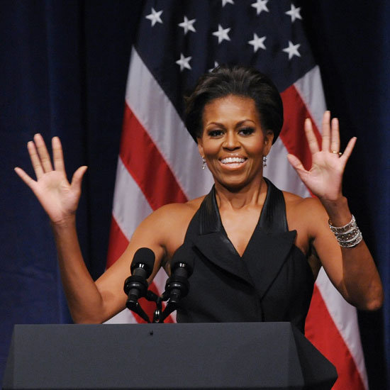 Michelle Obama Beats Ellen at Push-Ups