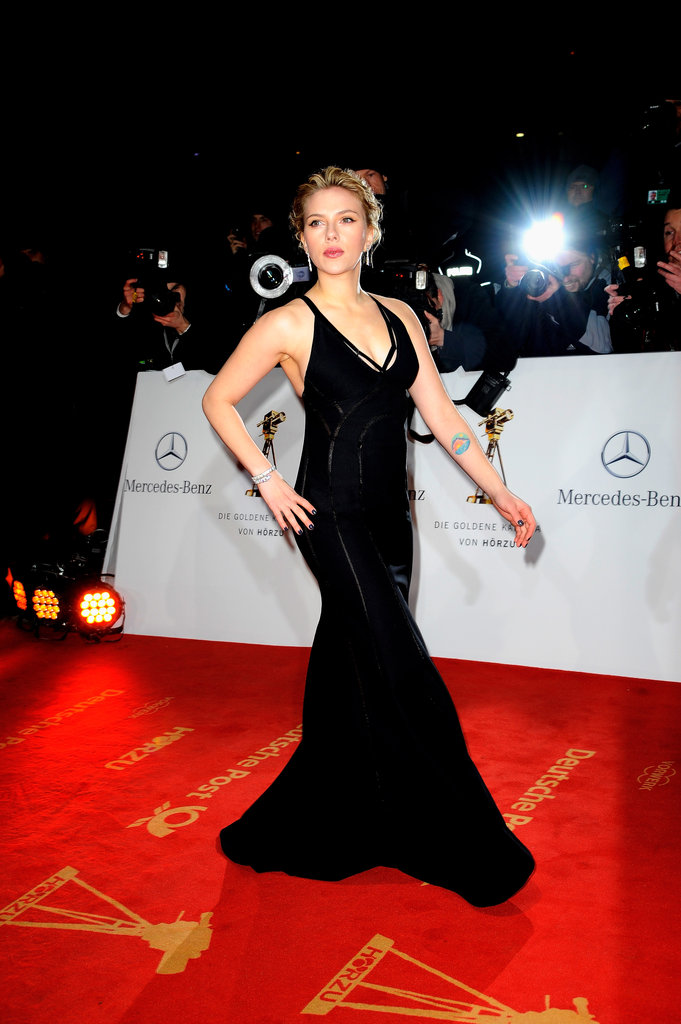 Scarlett Johansson wore Calvin Klein to the Golden Camera Awards.