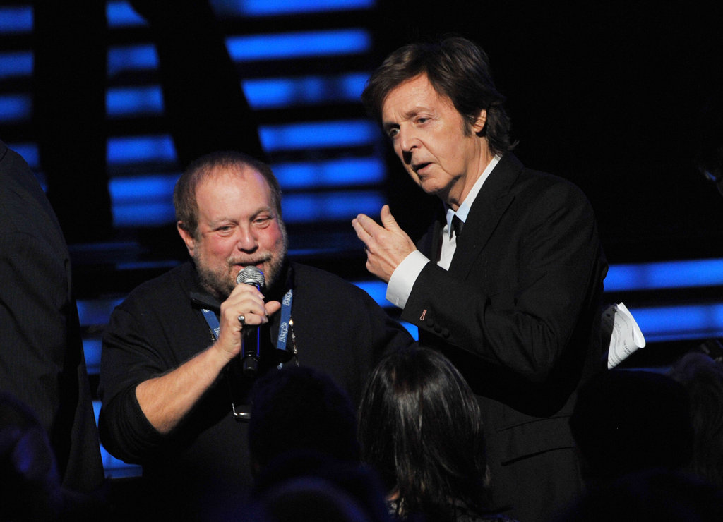 Paul McCartney attended the 2012 Grammys.