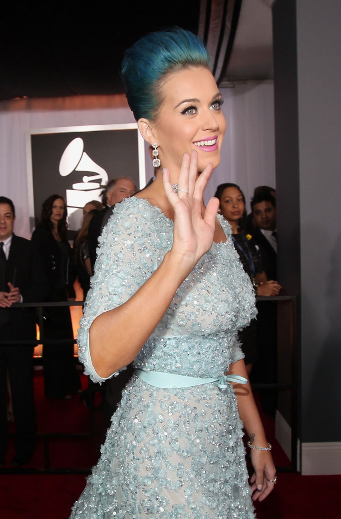 Katy Perry arrived to the 2012 Grammys.