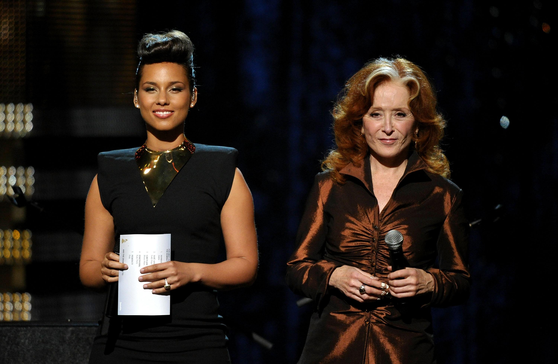 Alicia Keys and Bonnie Raitt shared the stage.