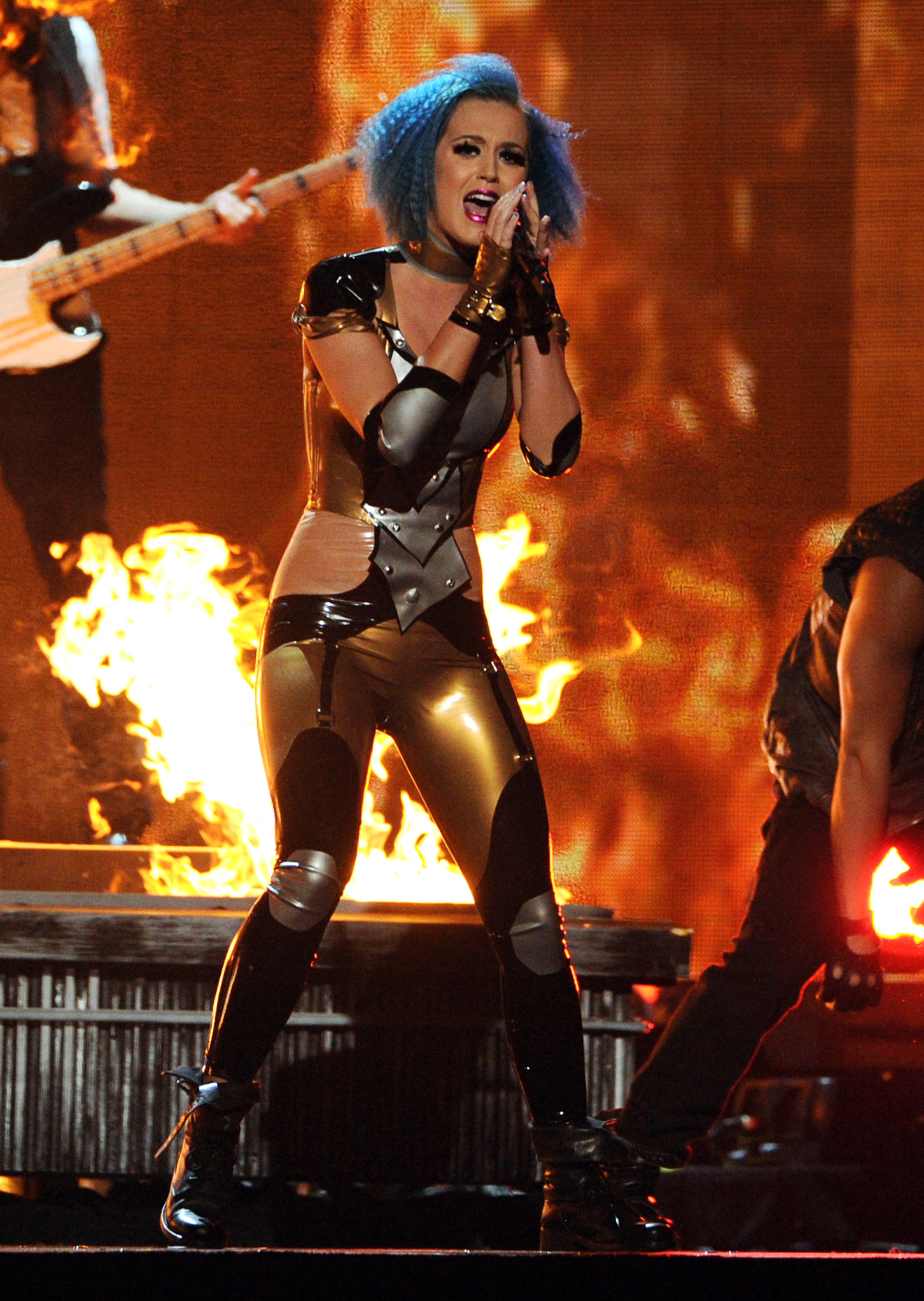 Katy Perry poured her heart and soul into her performance.